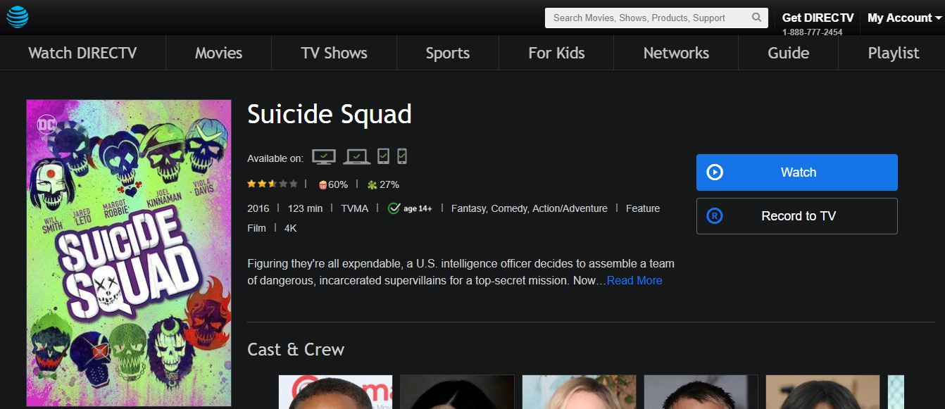 watch suicide squad online - DirectTV