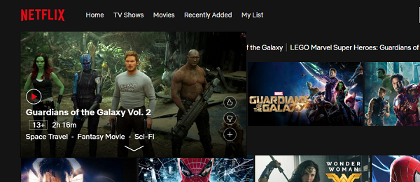 guardians of the galaxy netflix