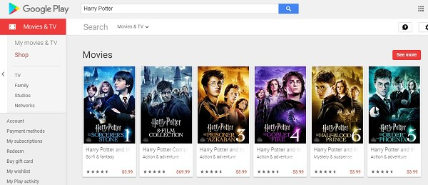 Harry Potter Movies on Google Play Store