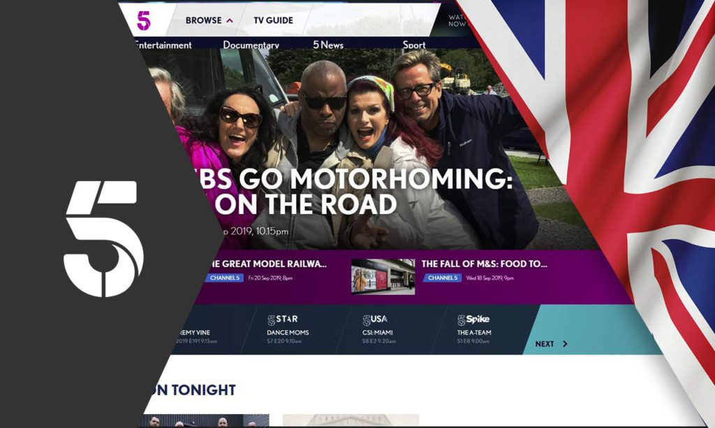 How to Watch Channel 5 Live Outside UK