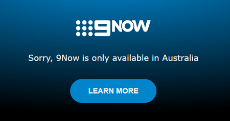 Channel 9 Outside Australia error