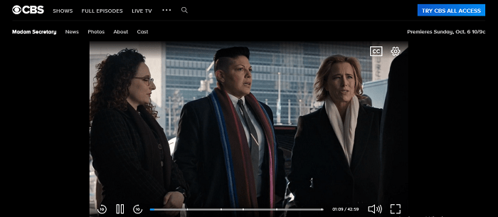 Madam Secretary online - working