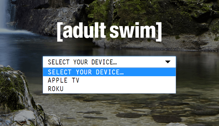 How to activate adult swim on device