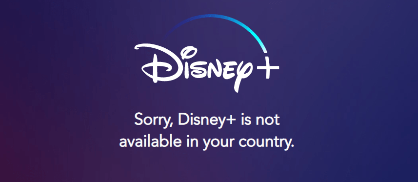 Disney Plus Geo Restriction error