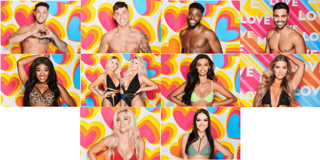 LOVE ISLAND CONTESTANTS