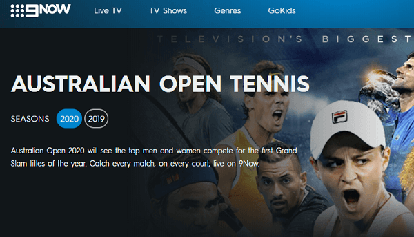 Watching Australian Open Live on Channel 9