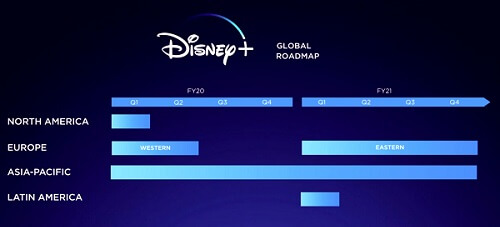 Disney Plus Global RoadMap