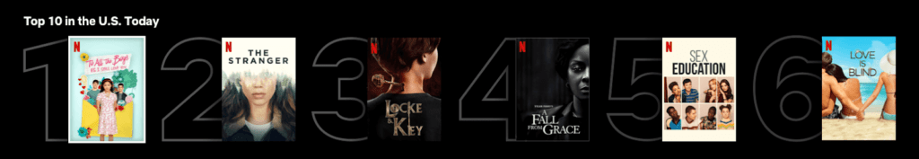 Netflix Top 10 lists feature 2