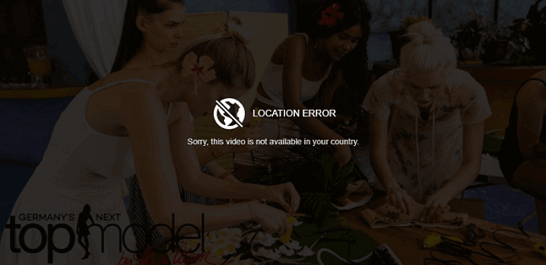 ProSieben Germany Geo restriction error