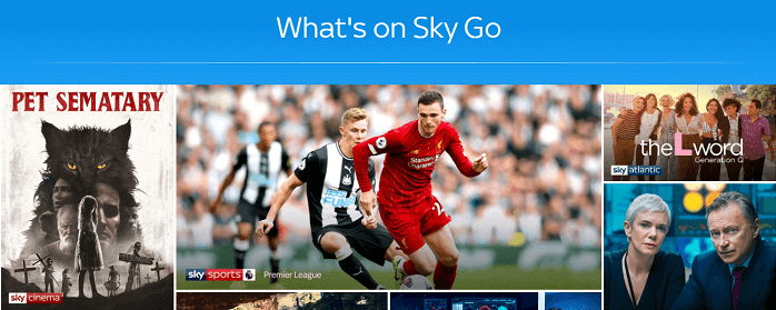 Sky Go working Live with VPN