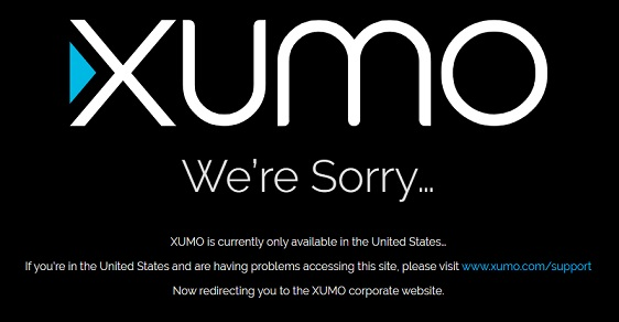 Xumo We're Sorry Error
