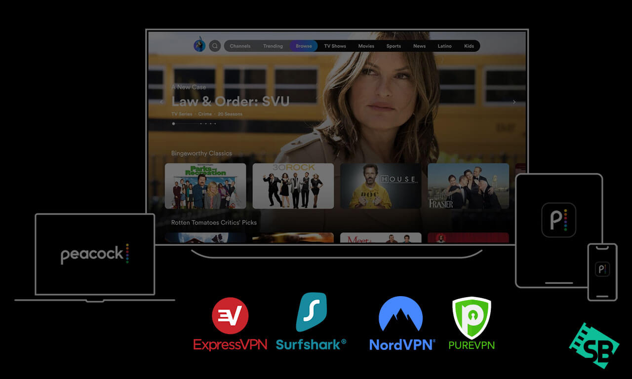 5 Best VPN for NBC Peacock Streaming in 2020