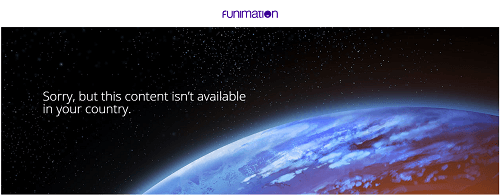 Funimation Not Available Error