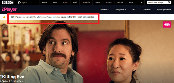 BBC iPlayer Australia Geo Block Error