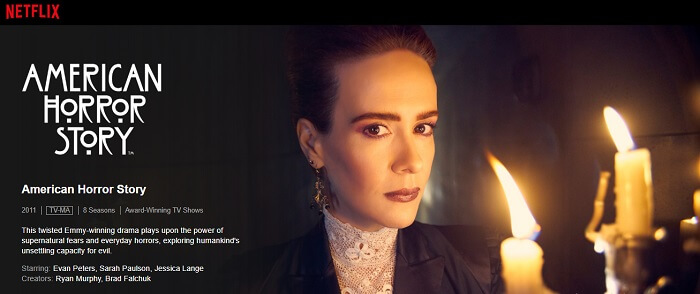 Watching American Horror Story on US Netflix in AUS with ExpressVPN