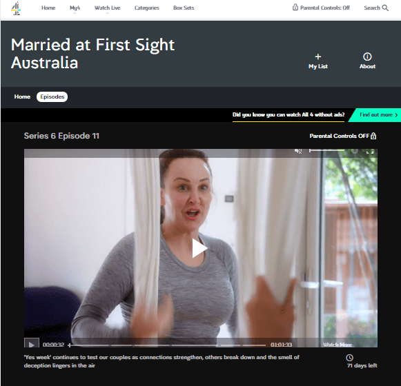 Married at First Sight channel 4 working with VPN