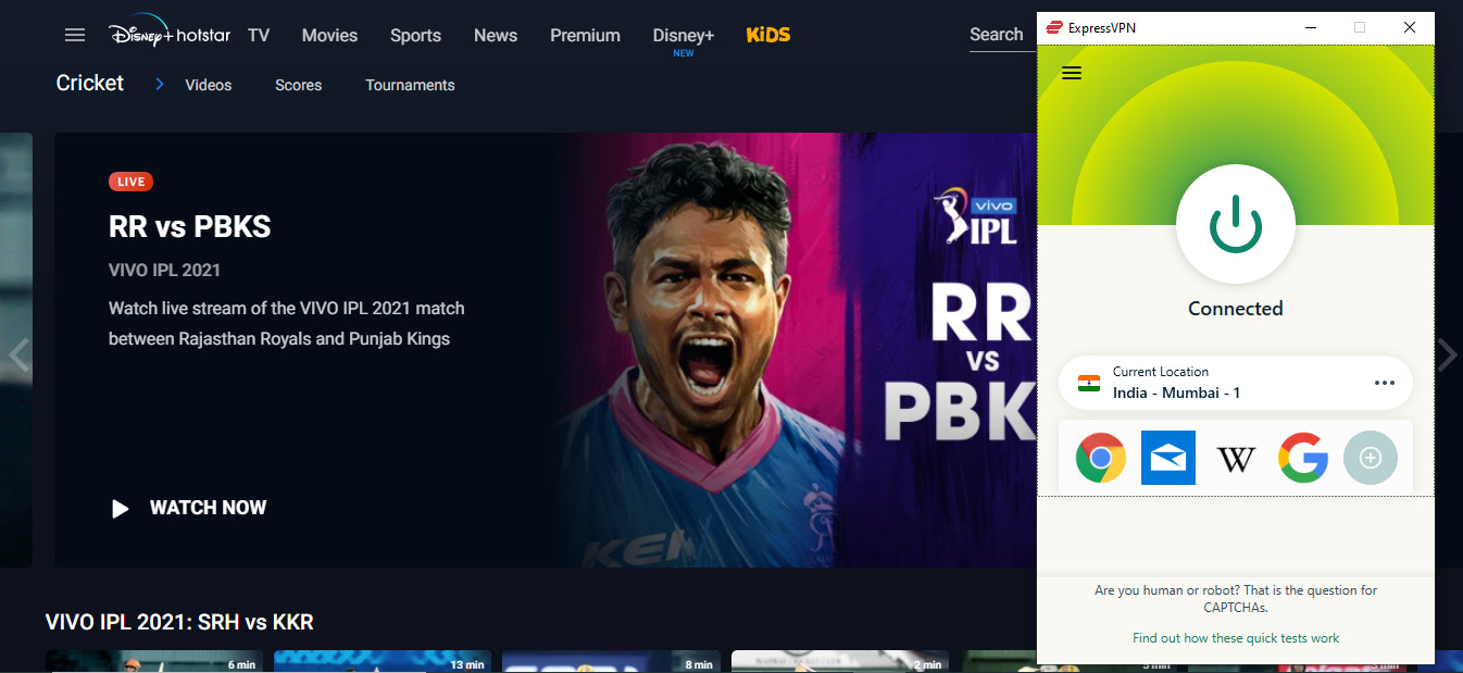 unblock ipl with expressvpn