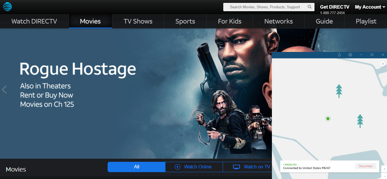 DirectTV-outside-US-with-nordvpn