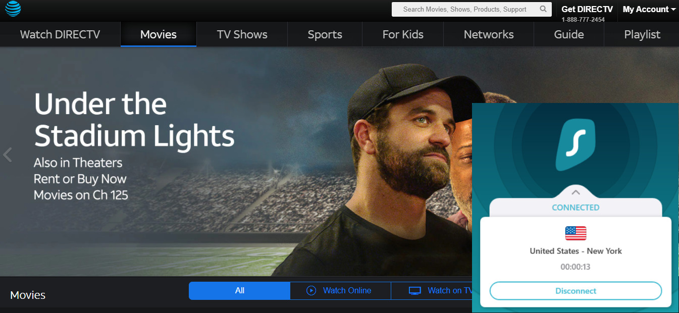 DirectTV-outside-US-with-surfshark