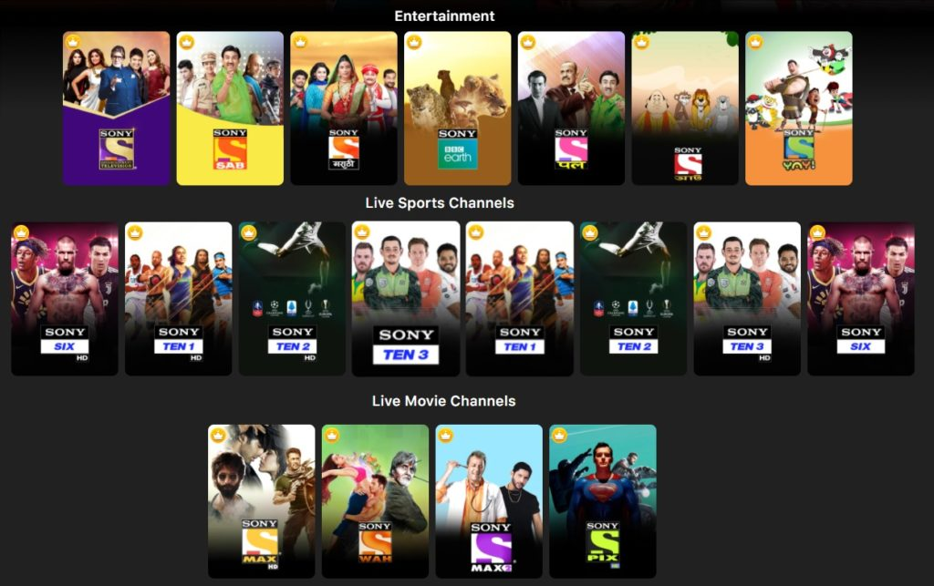 Sony Liv Channel